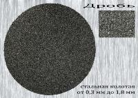 Дробь стальная колотая улучшенная - один из видов технических дробей для дробеструйной обработки и очистки поверхностей и других целей применения. Фото технической дроби типа ДСКУ по ГОСТ 11964-81 - дроби из стали улучшенной колотой