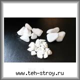 Галька супер-белая (галтованный мрамор) 20,0-40,0 в упаковке по 25 кг (мешок)
