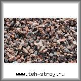Красно-серая каменная гранитная крошка 5,0-10,0 в упаковке по 25 кг (мешок)