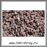 Красно-серая каменная гранитная крошка 5,0-20,0 в упаковке по 25 кг (мешок)