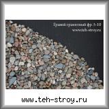 Гравий гранитный 5,0-10,0 в упаковке по 25 кг (мешок)