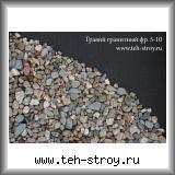 Гравий гранитный 5,0-10,0 в упаковке по 1 т (МКР)