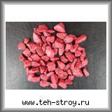 Щебень декоративный крашеный бордовый 10,0-20,0 по 20 кг мешок