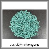 Щебень декоративный крашеный темно-бирюзовый 5,0-10,0 по 20 кг мешок