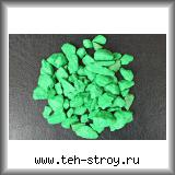 Щебень декоративный крашеный зеленый 10,0-20,0 по 20 кг мешок