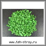 Щебень декоративный крашеный зеленый 5,0-10,0 по 20 кг мешок