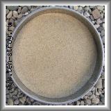 Высококачественный окатанный кварцевый песок 0,5-0,8 в упаковке по 25 кг (мешок)
